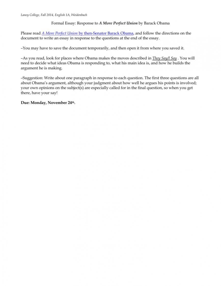 005 Essay Example 008024068 1 Barack Wondrous Obama Biography Paper
