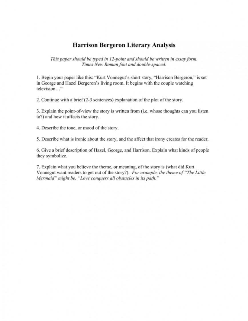 005 Essay Example 008918696 1 Harrison Imposing Bergeron Discussion Questions Quizlet Outline Conclusion
