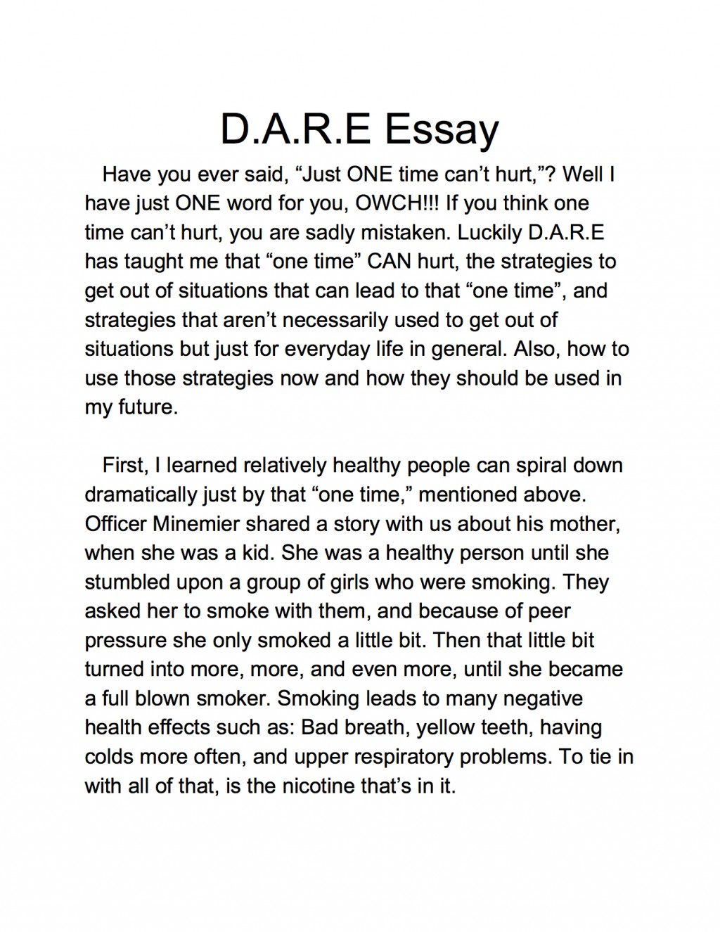 005 Essay Example 5th Grade Samples Lake Murray Elementary Dare Graduation And Winner America Program Essays L Staggering Argumentative Topics Examples Fifth Persuasive Large