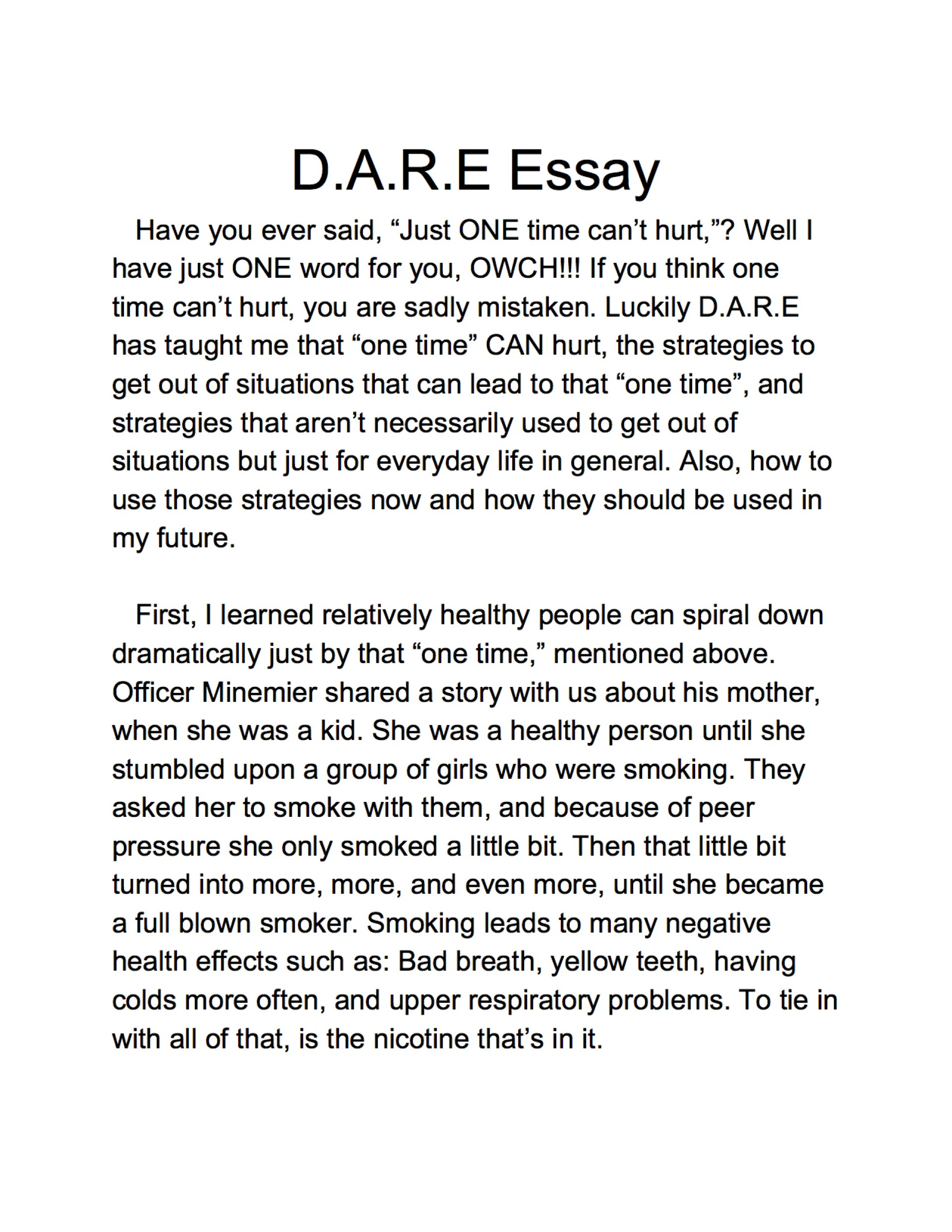 005 Essay Example 5th Grade Samples Lake Murray Elementary Dare Graduation And Winner America Program Essays L Staggering Argumentative Topics Examples Fifth Persuasive 1920