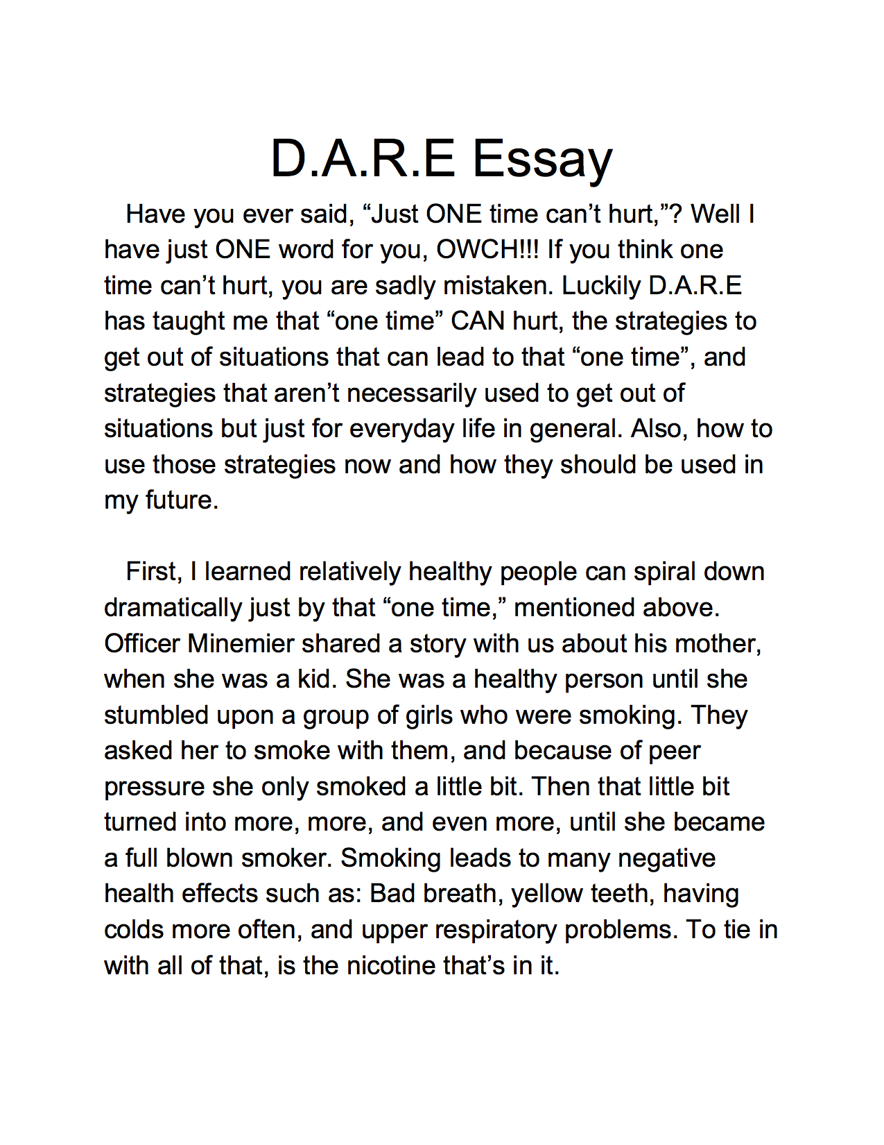 005 Essay Example 5th Grade Samples Lake Murray Elementary Dare Graduation And Winner America Program Essays L Staggering Argumentative Topics Examples Fifth Persuasive Full