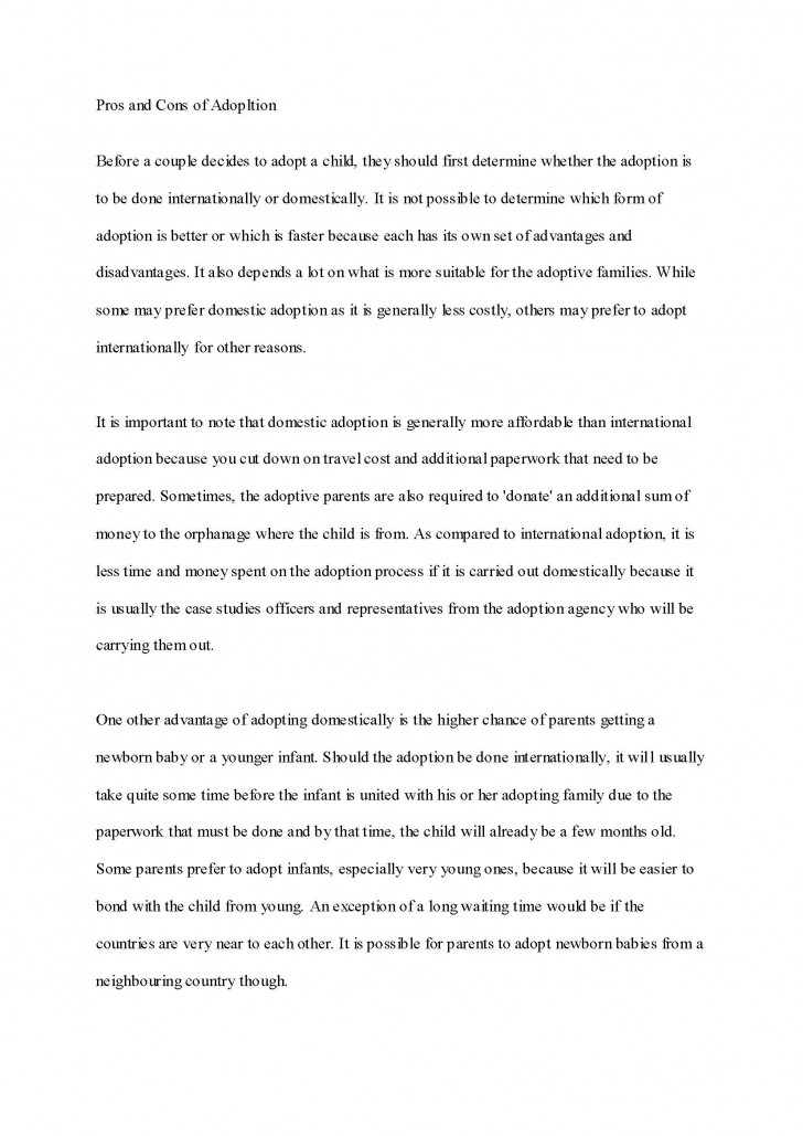 005 Essay Example Adoption Impressive Expository Examples With Thesis Statement Mla Format College 728
