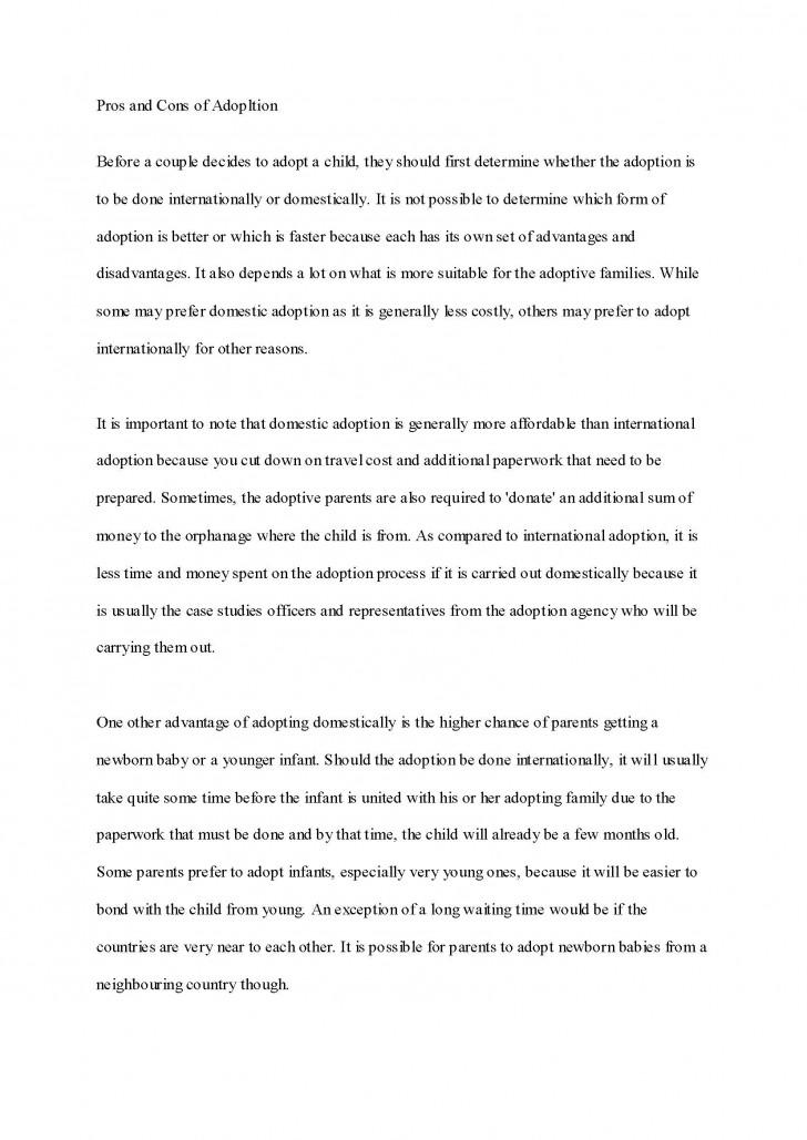 005 Essay Example Adoption Impressive Good About Yourself Examples Pdf Descriptive 728