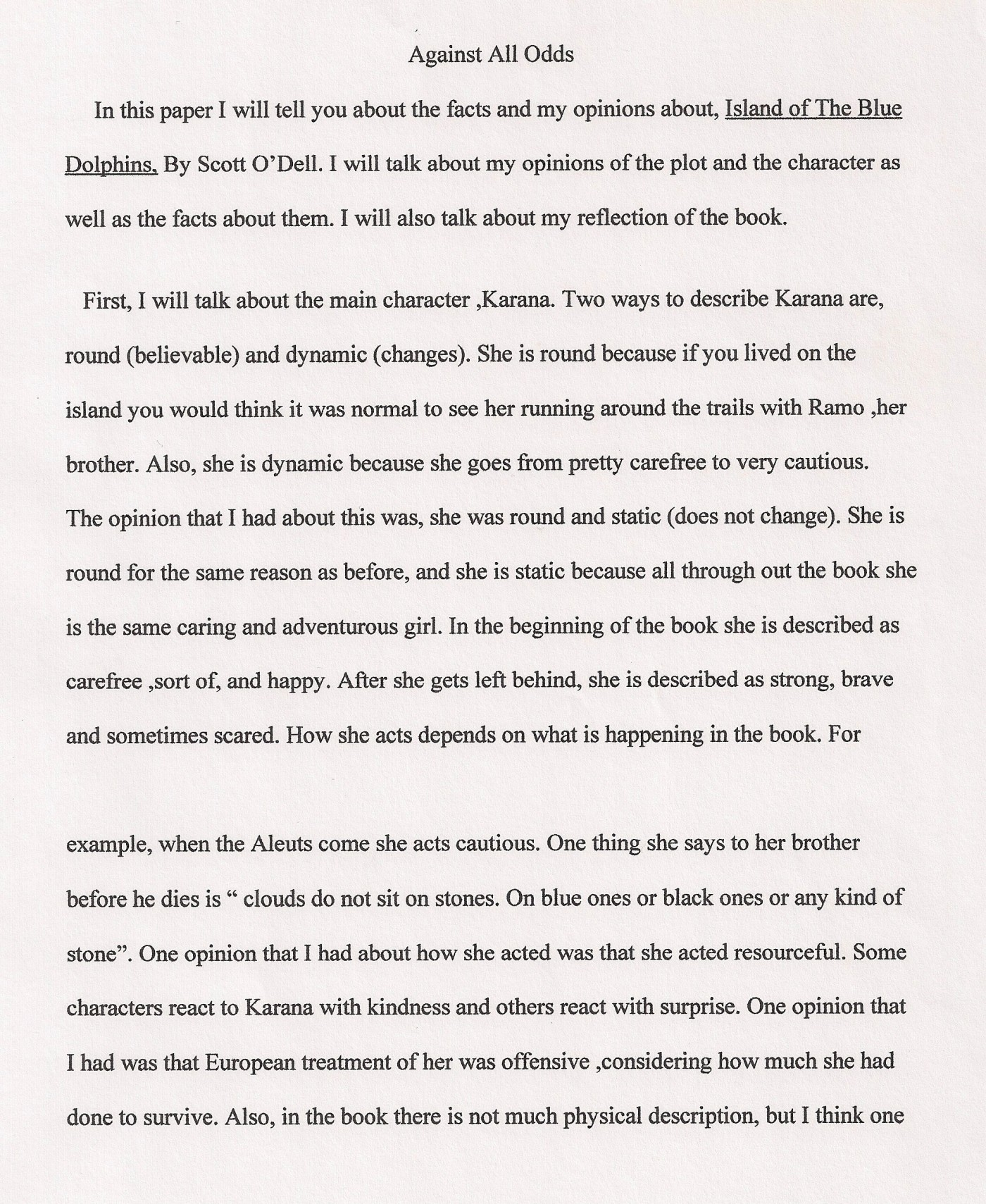 005 Essay Example Against All Odds Explanatory Fascinating Topics Informative For College High School Prompt 4th Grade 1400