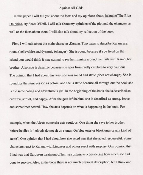 005 Essay Example Against All Odds Explanatory Fascinating Topics Informative For College High School Prompt 4th Grade 480