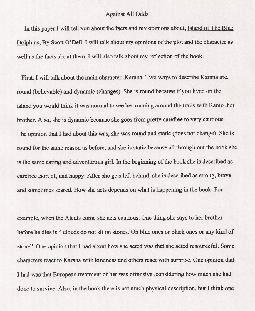 005 Essay Example Against All Odds Explanatory Fascinating Topics Informative For College High School Prompt 4th Grade 868