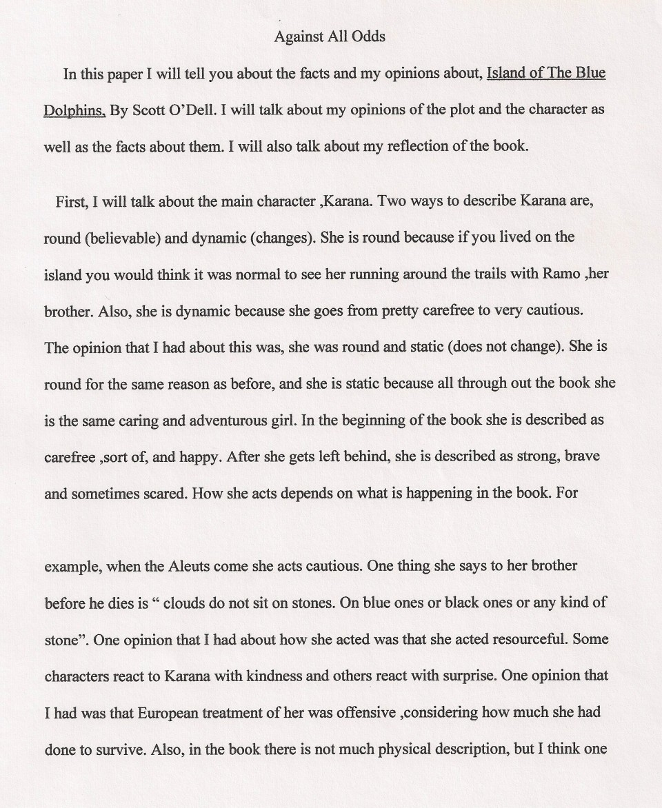 005 Essay Example Against All Odds Explanatory Fascinating Topics Informative For College High School Prompt 4th Grade 960
