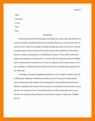005 Essay Example Asa Format Sample Mla Style One Aspect Of The Current Economic Crisis Remarkable Reference Generator Heading Citation 360