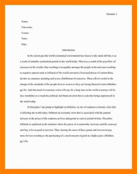 005 Essay Example Asa Format Sample Mla Style One Aspect Of The Current Economic Crisis Remarkable Reference Generator Heading Citation 480