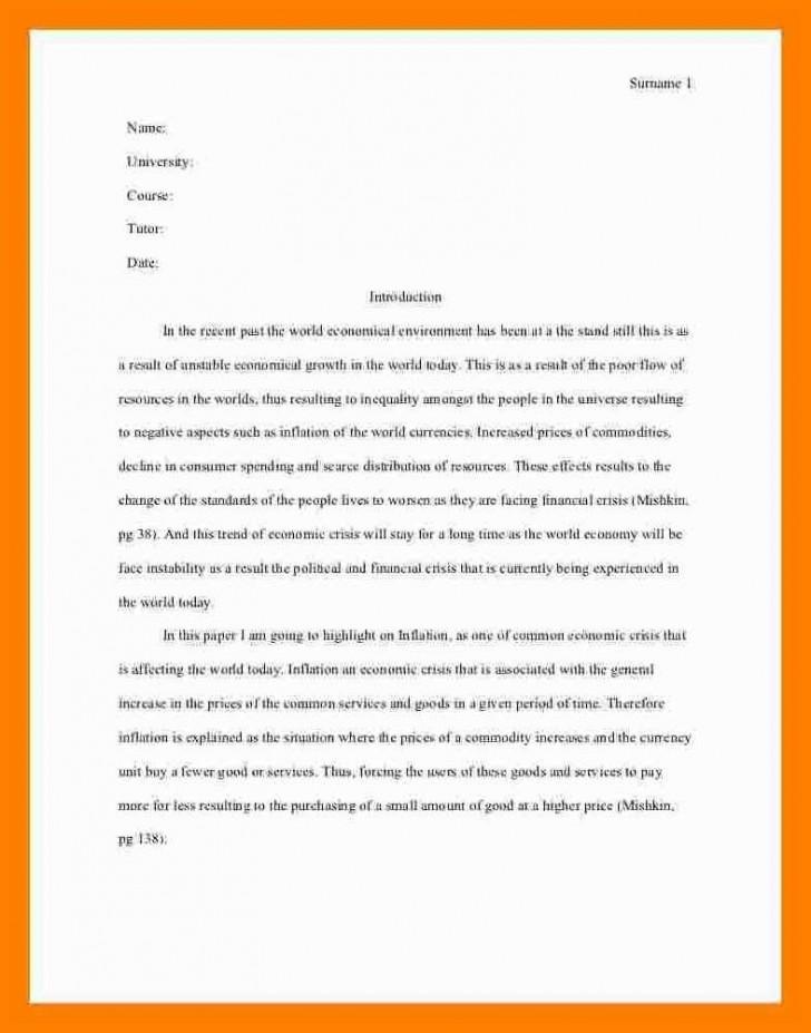 005 essay example asa format sample mla style one aspect
