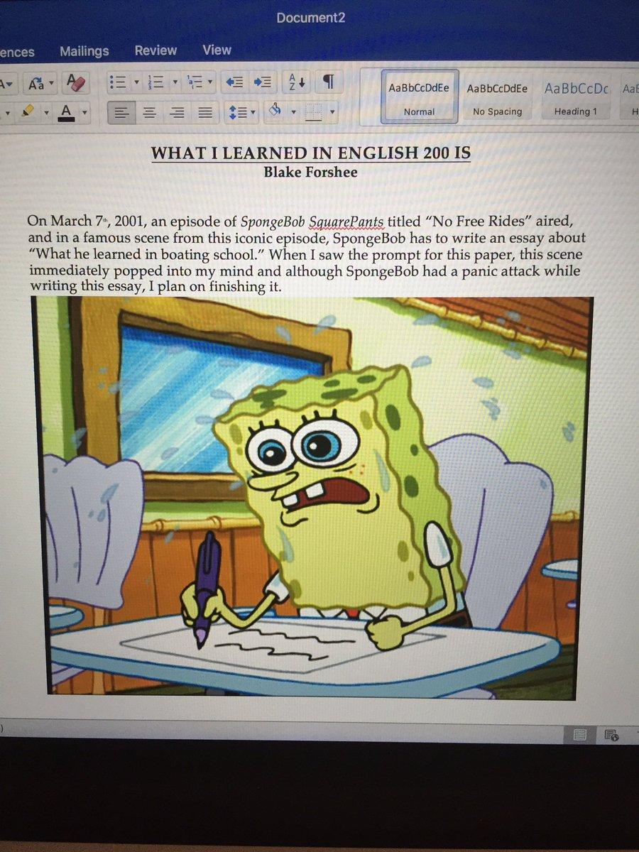 005 Essay Example Ben Smith Bensmith 15 Twitter Spongebob Episode Writing Cy9yjtixga Stirring Meme Generator Font Full