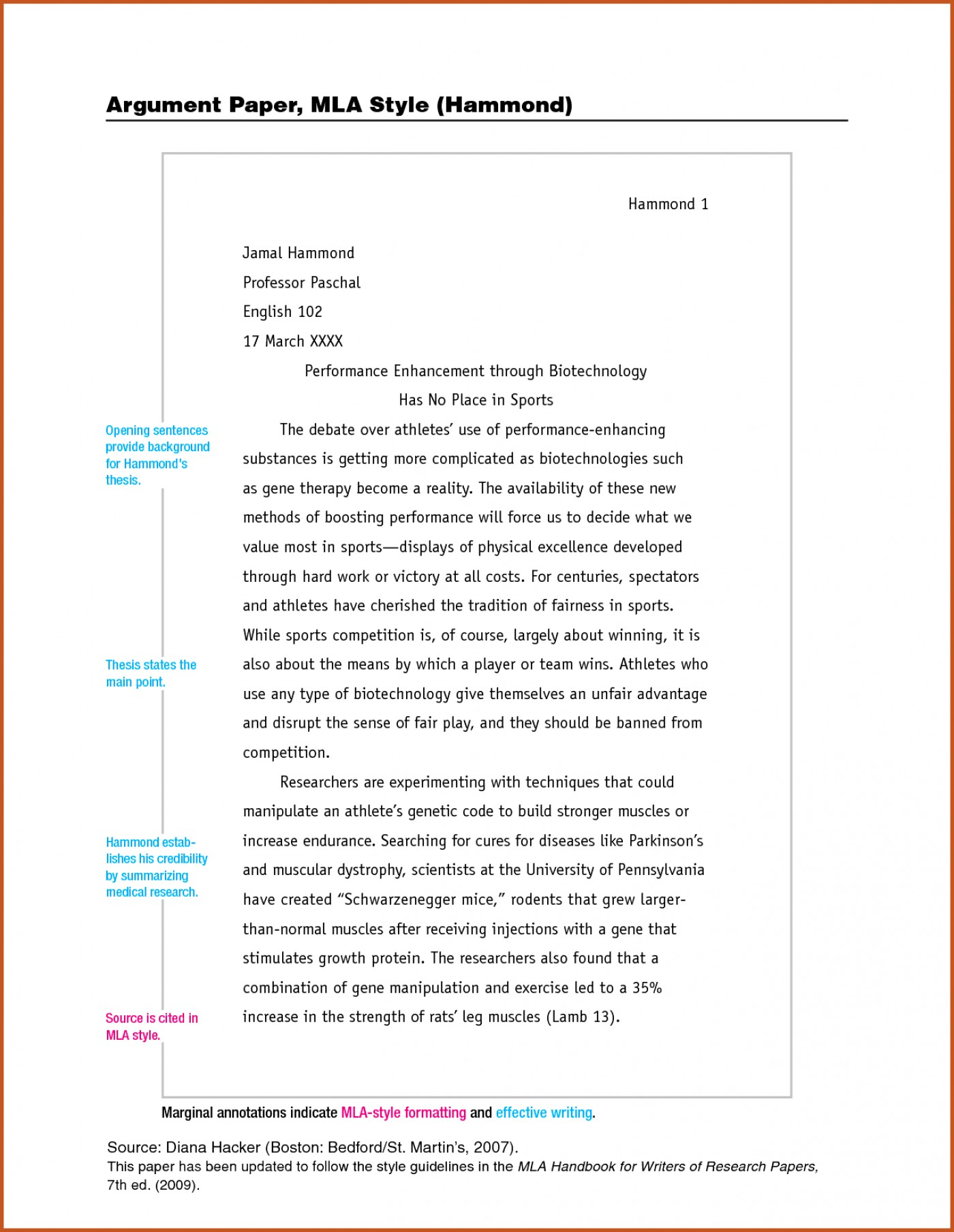 Chicago style example essay