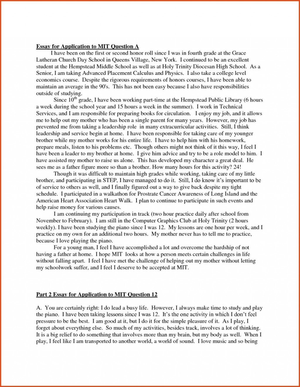 005 Essay Example College Admissions Samples Writings And Essays Examples Of Mit Admis Good Admission About Yourself Questions Application On Diversity Stirring 2017 Best Large