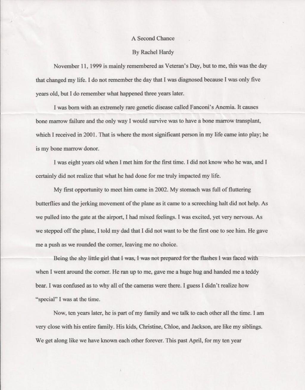 005 Essay Example College Scholarship Rachel Hardy 1 206151151 Std Best Topics List Template Tips Large