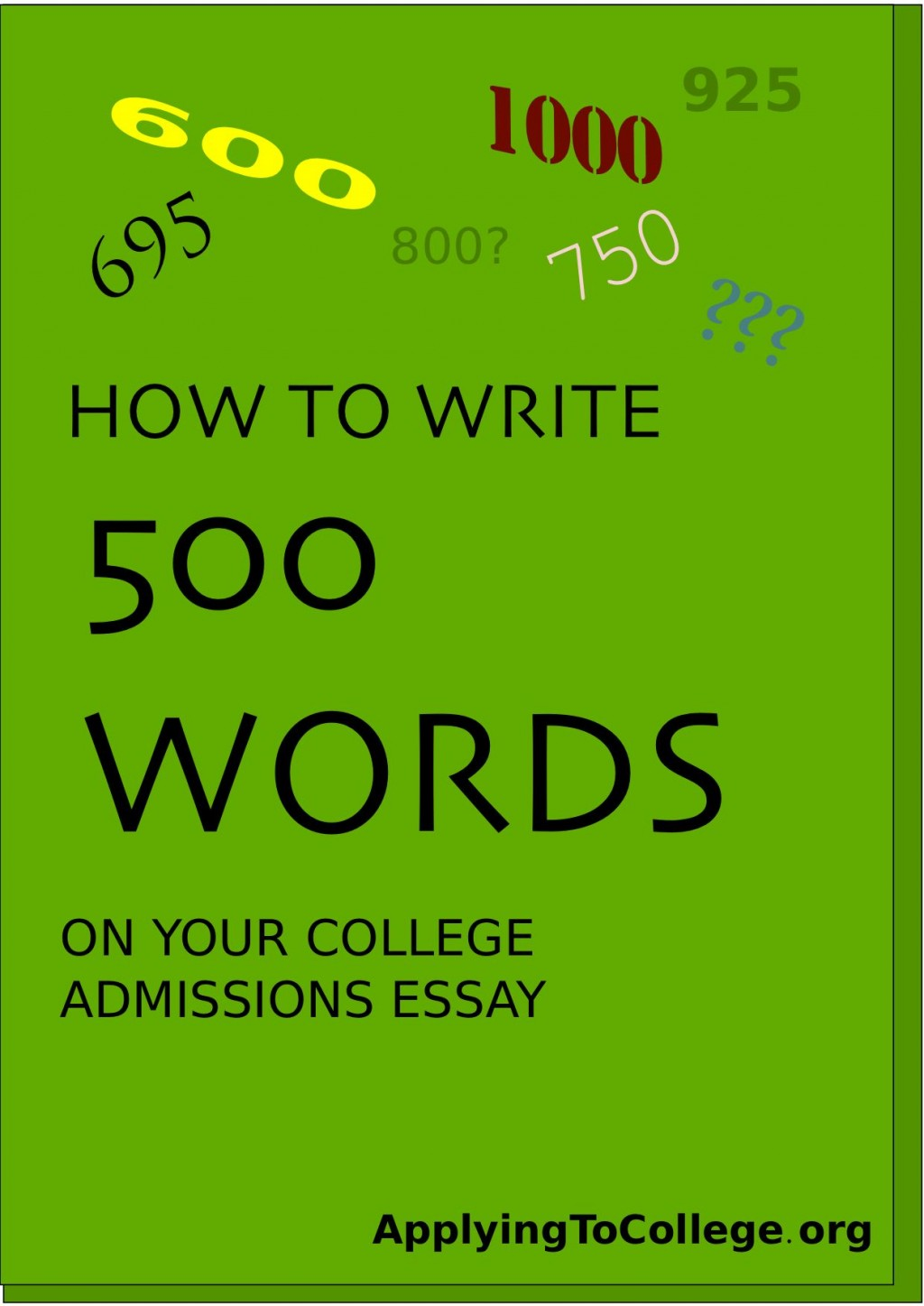 005 Essay Example College Word Impressive Limit Count Admission 2019 Large