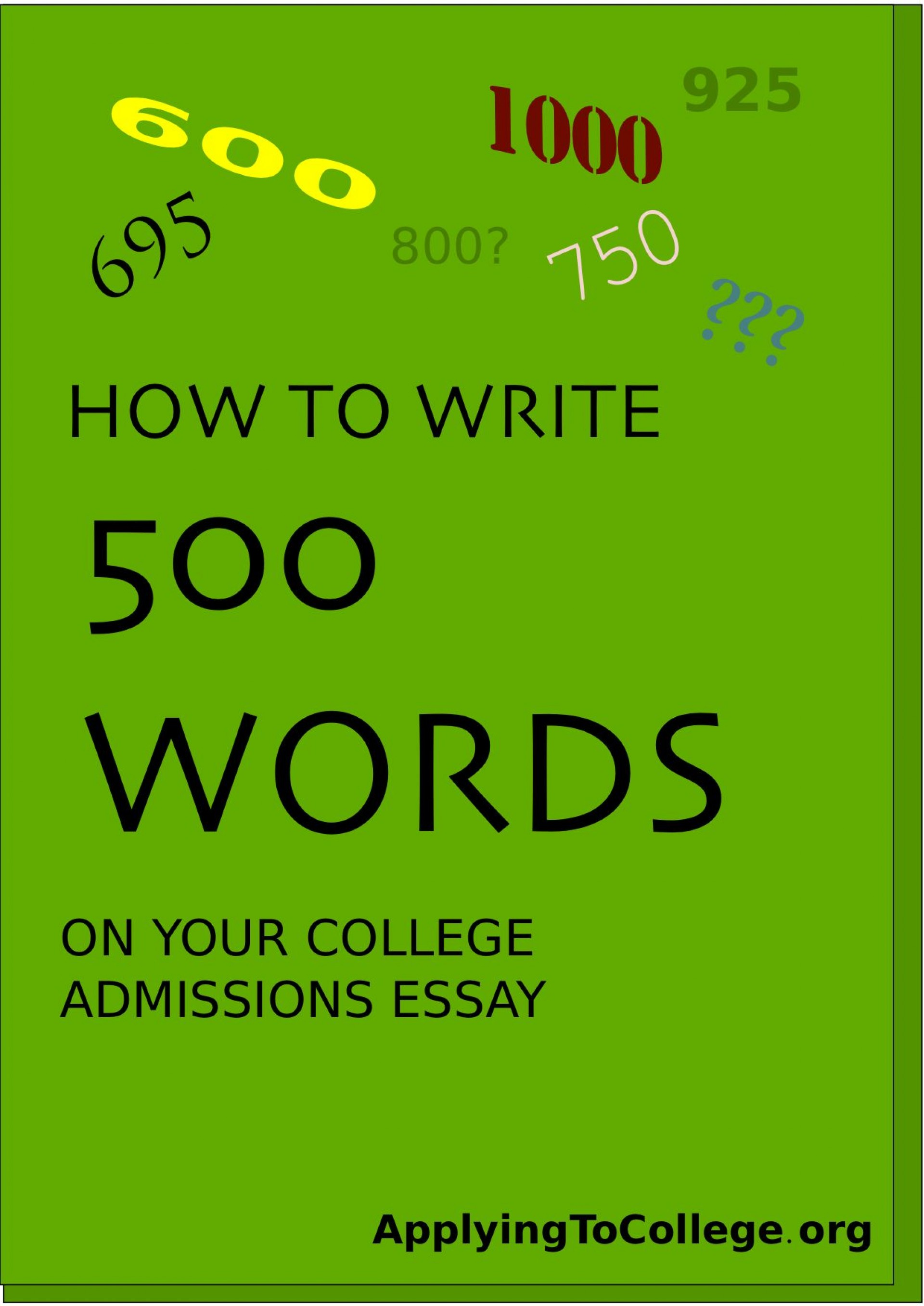 005 Essay Example College Word Impressive Limit Count Admission 2019 1920