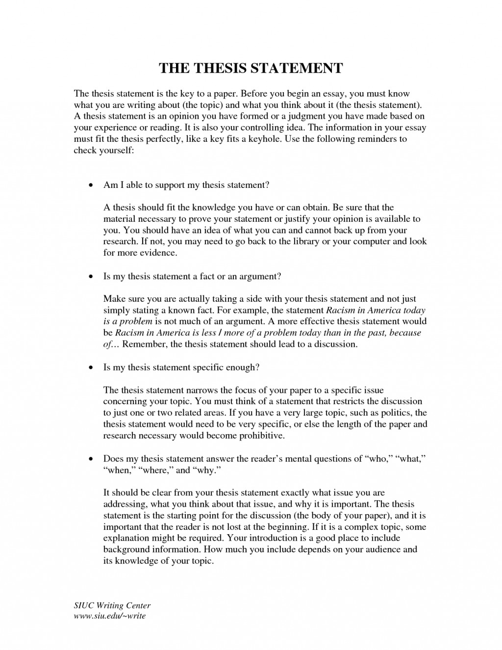 Thesis statement examples for comparison essays ideas