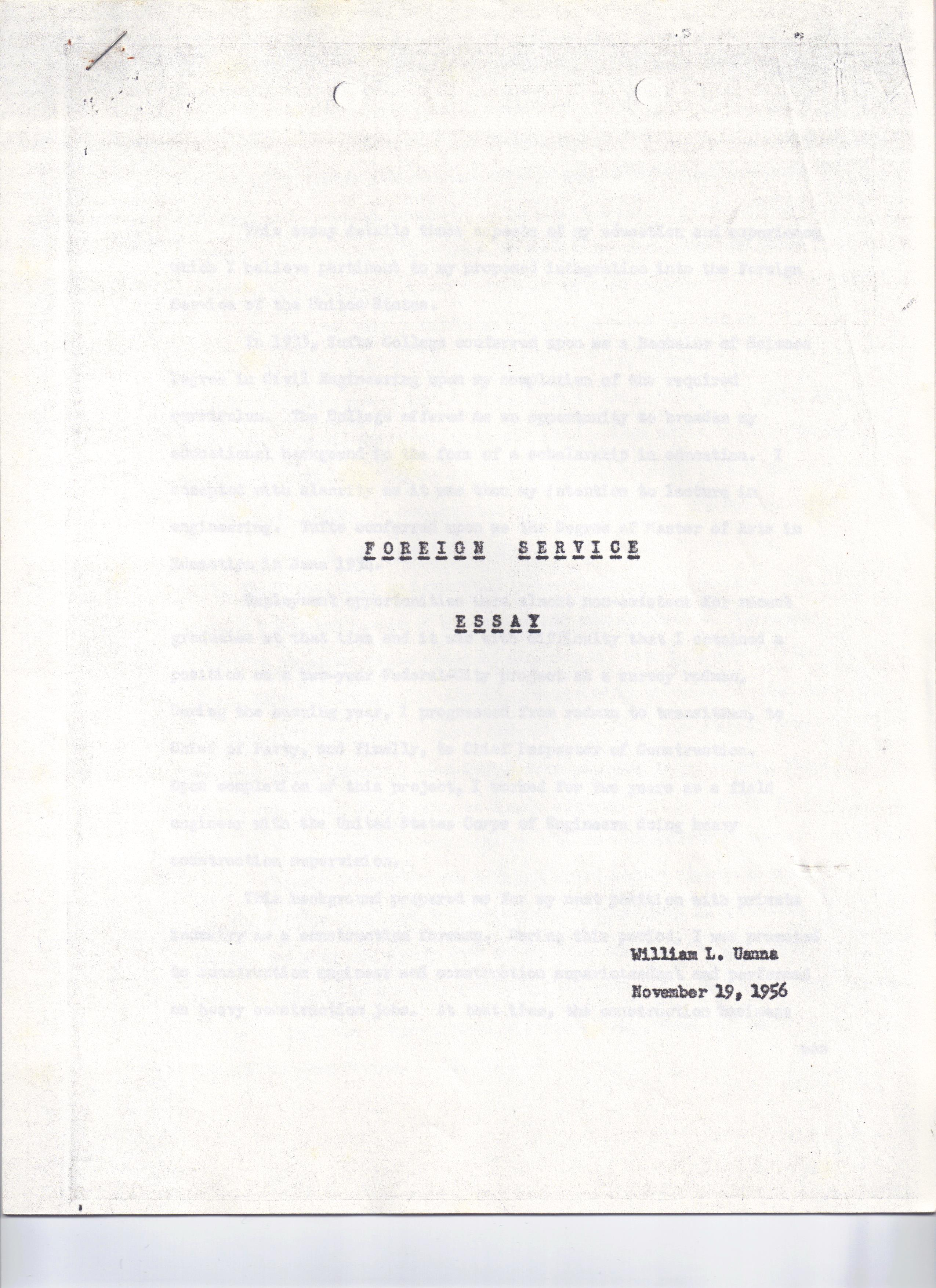 005 Essay Example Cover Letter For Bud Uanna Foreign Service November 19 1956 Singular Competition Scientific Paper Submission College Full