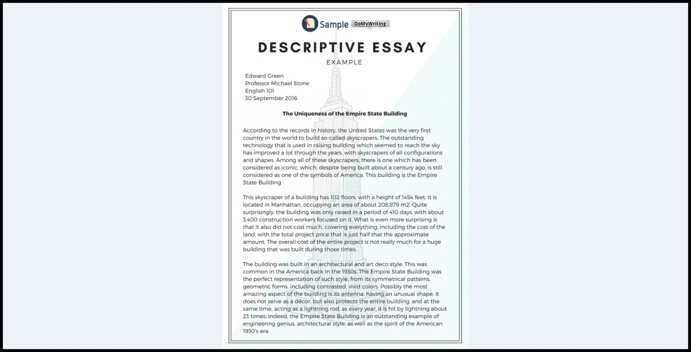 005 Essay Example Descriptive Impressive Writing Definition Wikipedia Format Ppt 1400