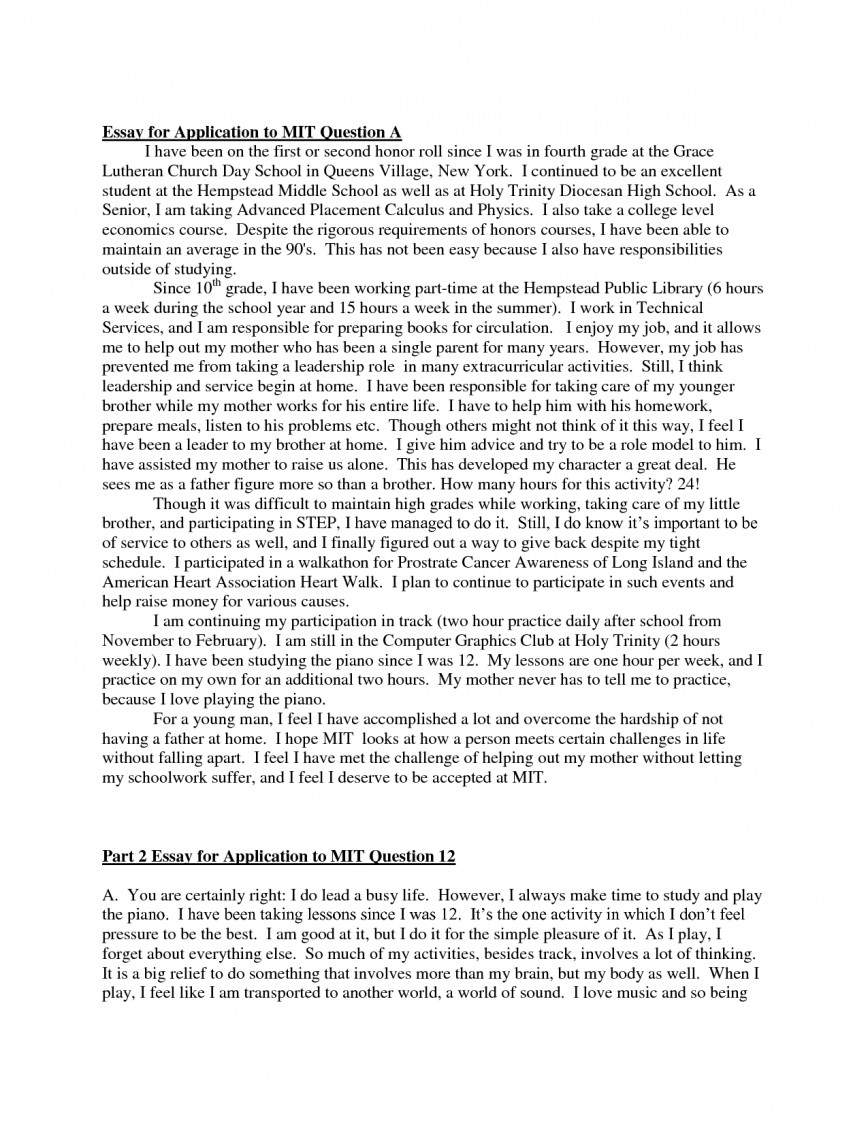 005 Essay Example Examples Of College Application Essays Fantastic Bad Strong Uc