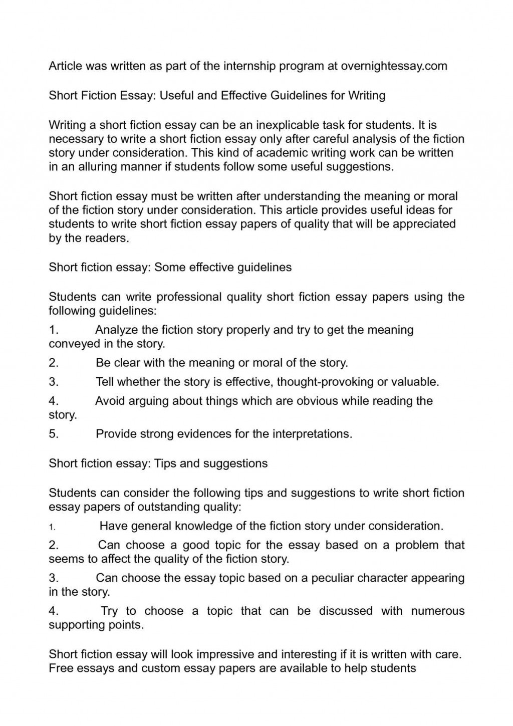 005 Essay Example Fiction Imposing English 102 Writing Prompts For Middle School High Large