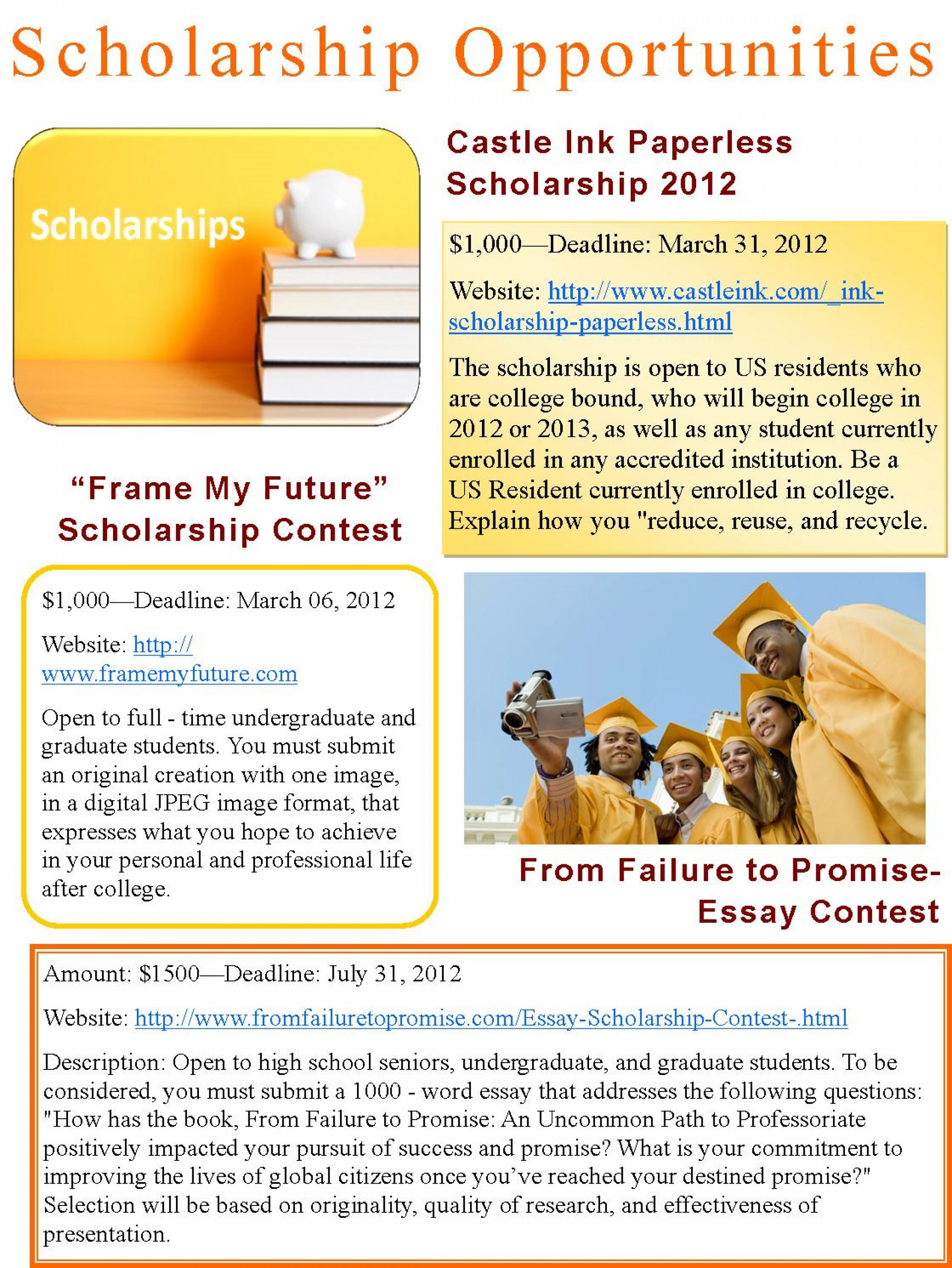 005 Essay Example From Failure To Promise Contest Unique 1920