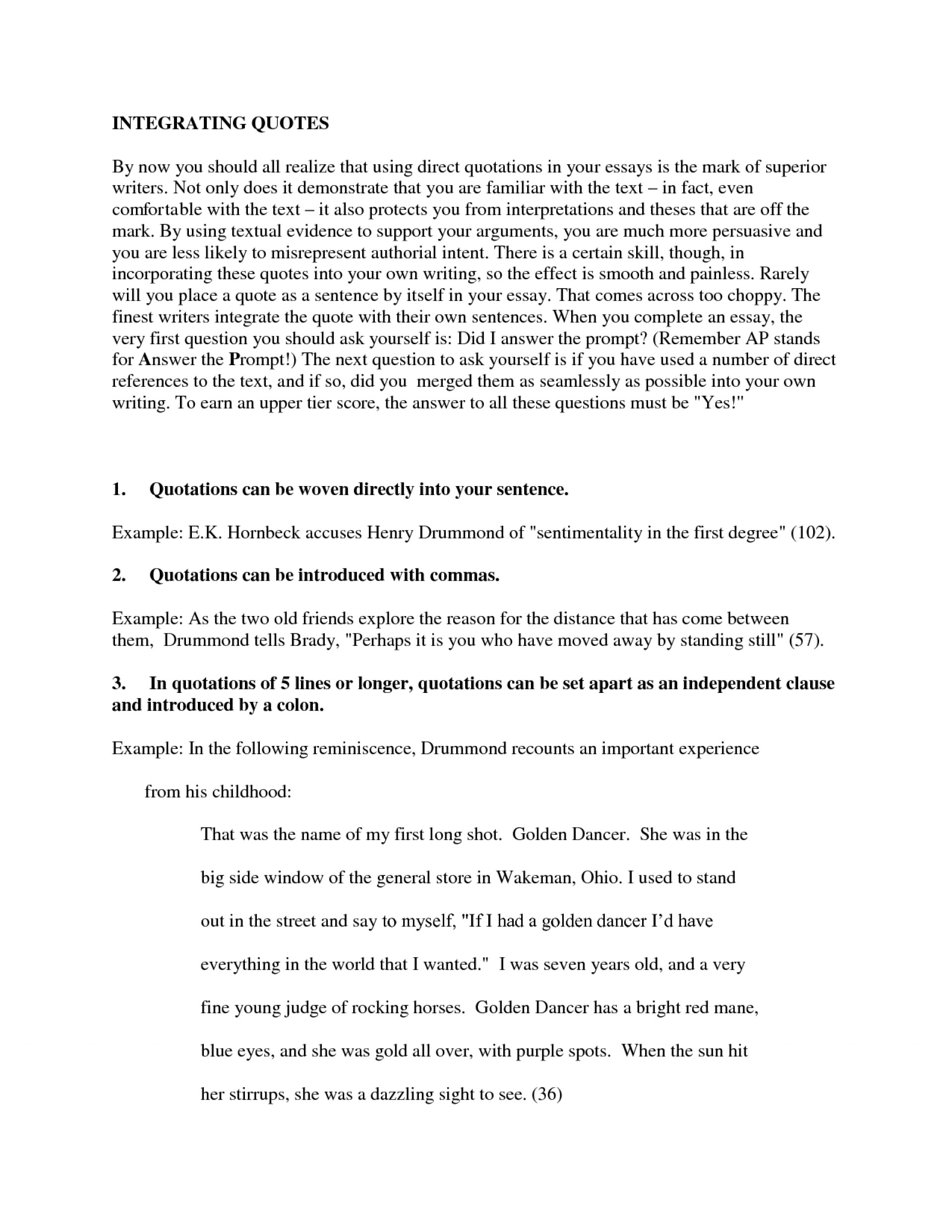 005 Essay Example How To Quote In An Parts Of Quotes Quotesgram L Phenomenal From A Website Mla Put Long Harvard 1920