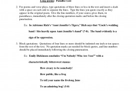 005 Essay Example How To Quote Poem In Best A An Lines From Mla Chicago Style