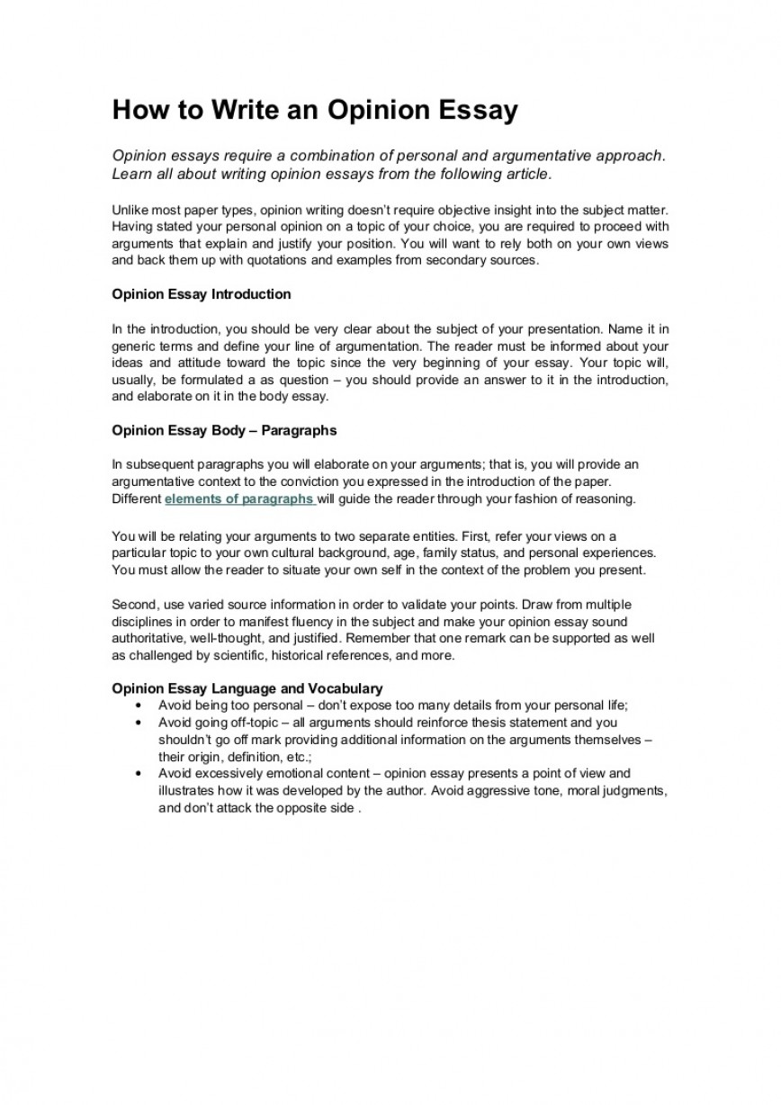 005 Essay Example How To Write An Opinion Howtowriteanopinionessay Lva1 App6891 Thumbnail Unbelievable 3rd Grade College 868