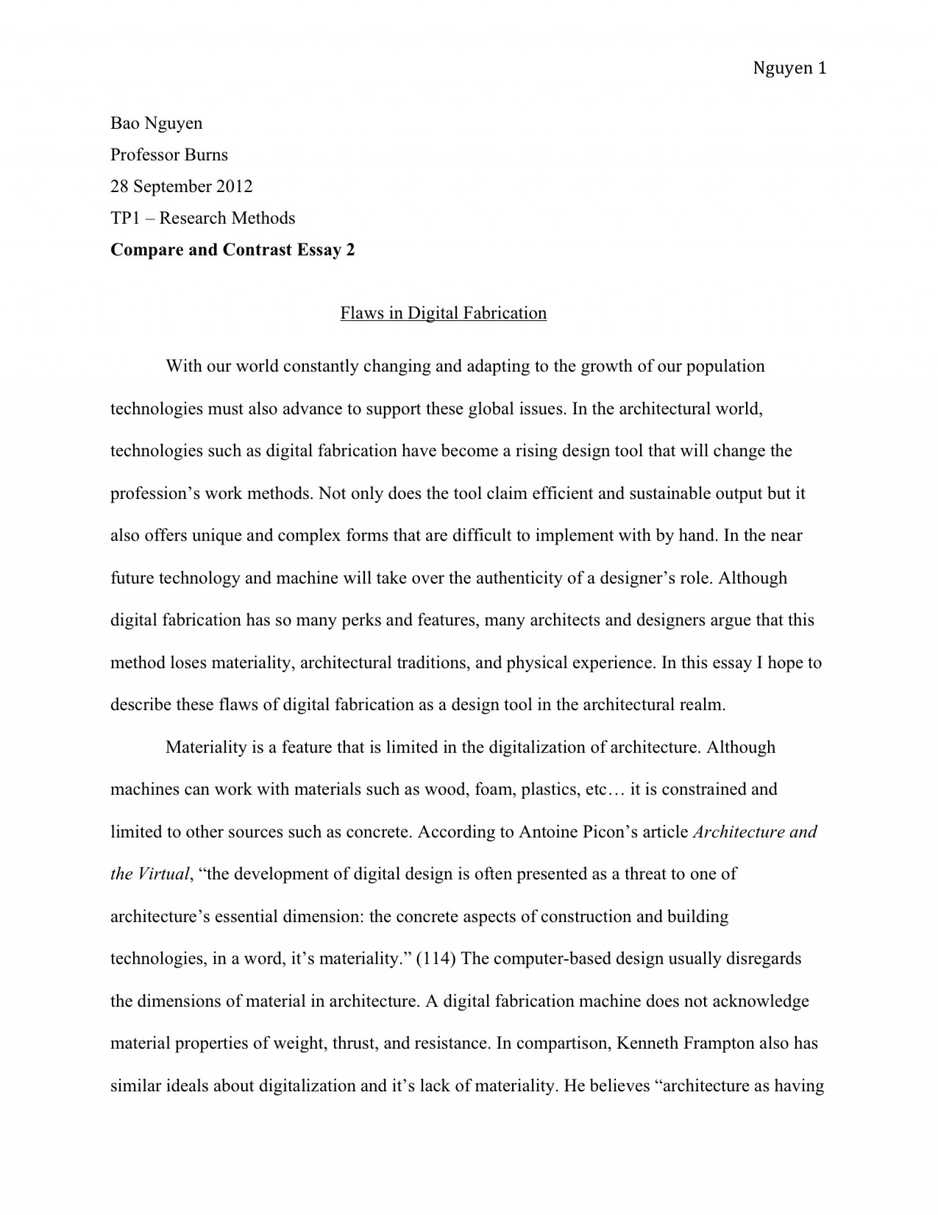 005 Essay Example How To Write And Tp1 3 Unique An Outline 6th Grade Conclusion In Mla Format 1920
