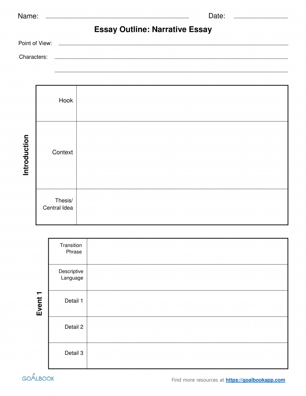 005 Essay Example Informative Graphic Organizer 4narrativeessayoutlinechunked Fascinating Free Informational Pdf 6th Grade Large