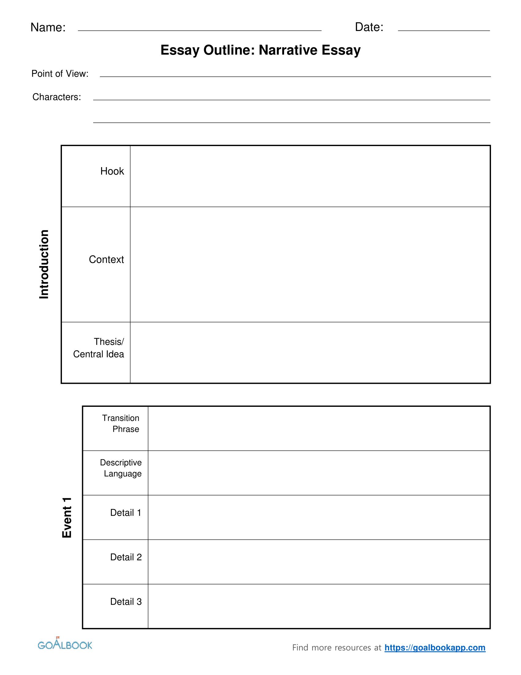 005 Essay Example Informative Graphic Organizer 4narrativeessayoutlinechunked Fascinating Free Informational Pdf 6th Grade Full