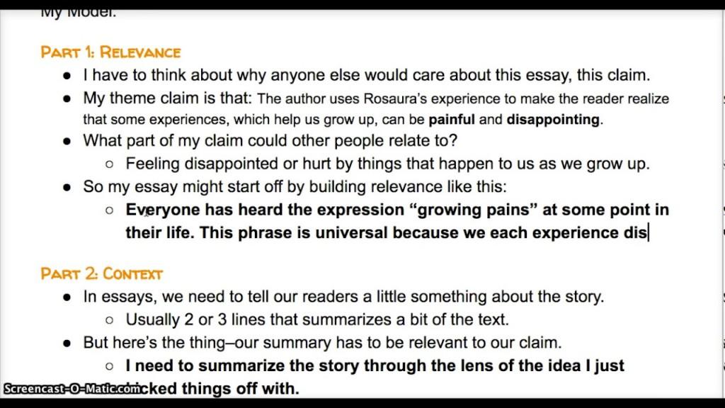 005 Essay Example Lead Breathtaking Exposure Generator Large