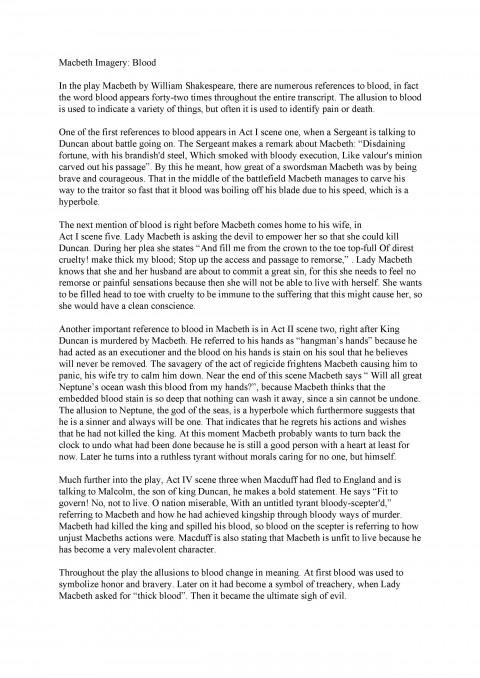 005 Essay Example Macbeth Sample Racism Dreaded Today 480