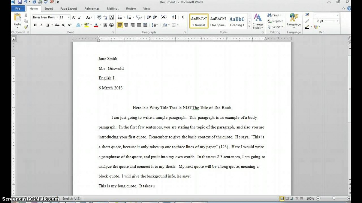 How to write a direct quote in an essay