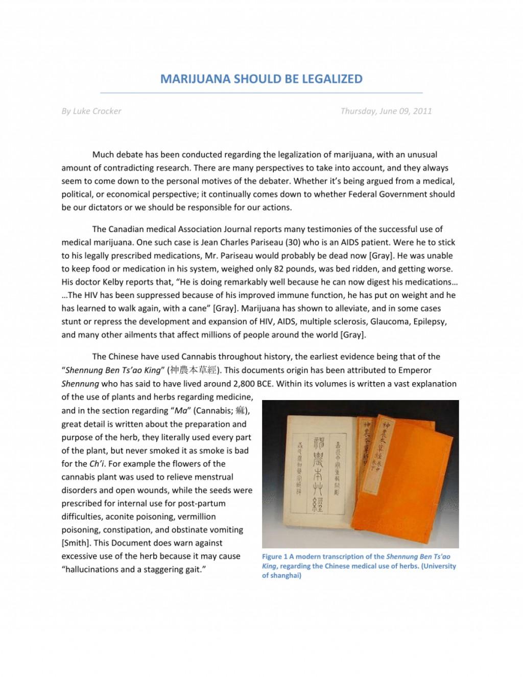 005 Essay Example Medical Marijuana Wonderful Intro Paperwork Vermont Argumentative Topics Large