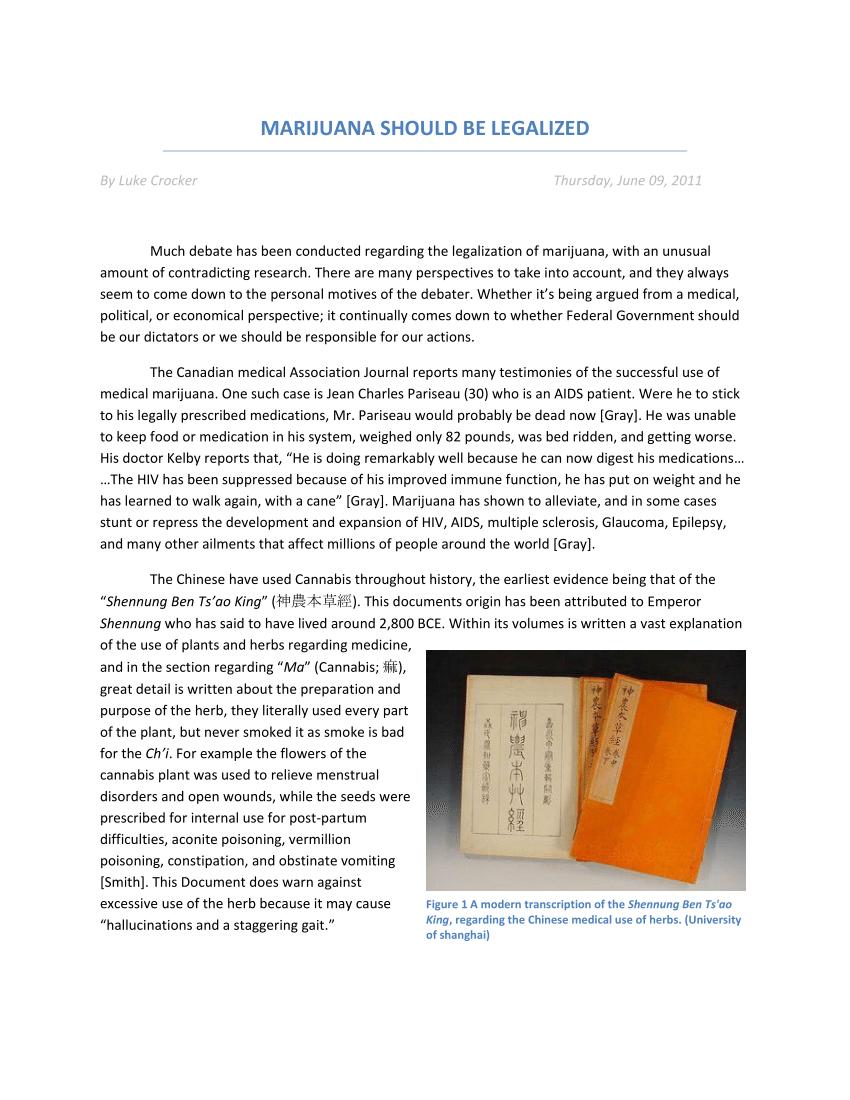 005 Essay Example Medical Marijuana Wonderful Intro Paperwork Vermont Argumentative Topics Full