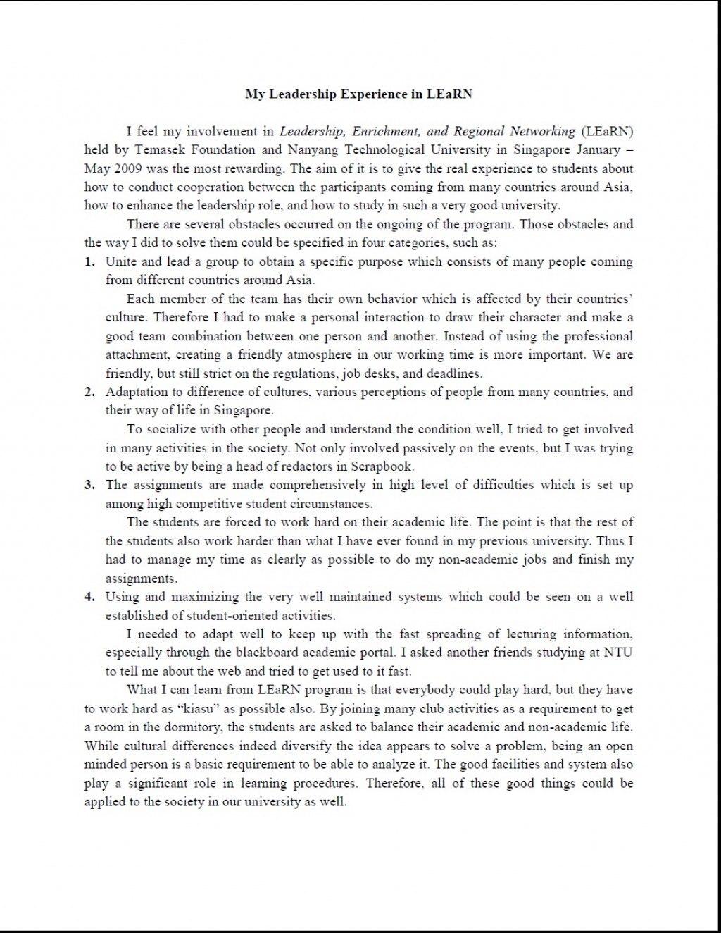 005 Essay Example My Awesome Leadership Student Nhs Examples Pdf Large