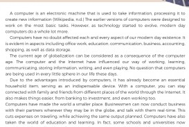 005 Essay Example On Computer And Its Benefits Fearsome Security Privacy Skills College Science