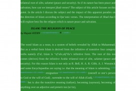 005 Essay Example On Islam Is Religion Of Peace Outstanding A Short Pdf The And Tolerance