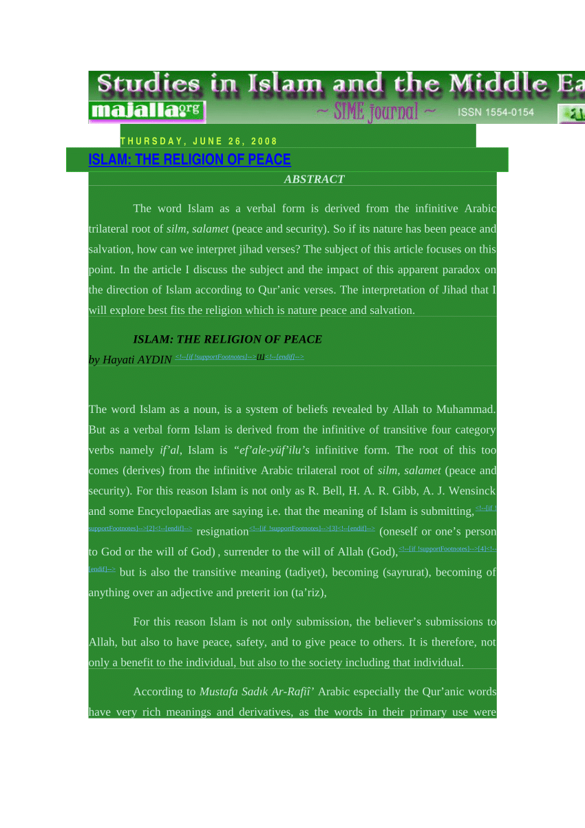 005 Essay Example On Islam Is Religion Of Peace Outstanding A Short Pdf The And Tolerance Full