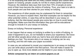 005 Essay Example P1 About Best Bullying Effects How Can In School Be Prevented Spm