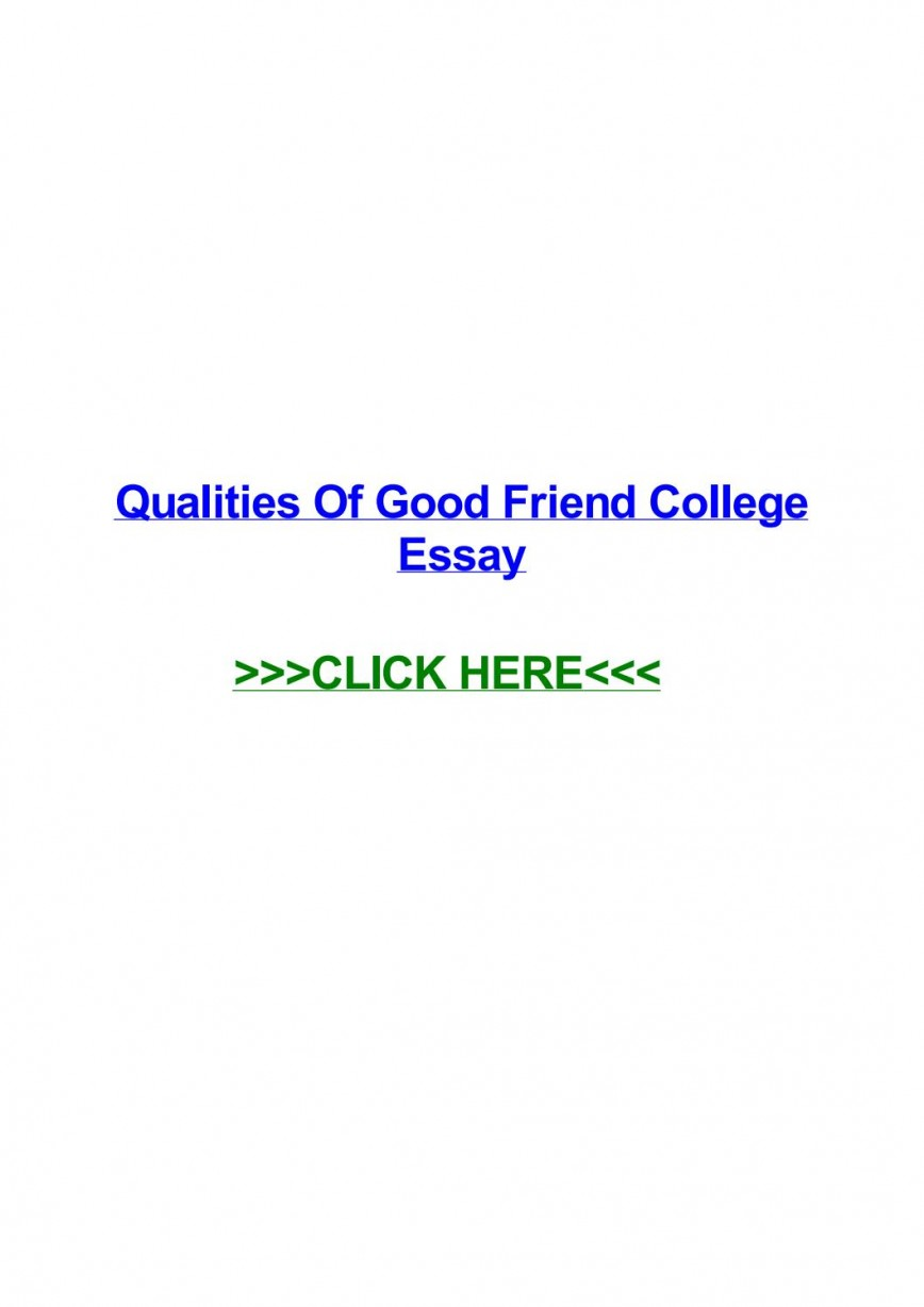 005 Essay Example Page 1 Qualities Of Good Amazing Friends A Friend Conclusion In Hindi My Best Should Have