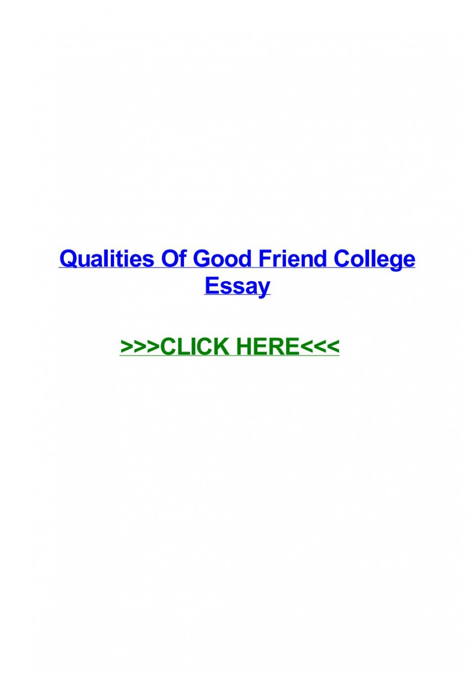 005 Essay Example Page 1 Qualities Of Good Amazing Friends Friendship My Best Friend Should Have A Expository 960