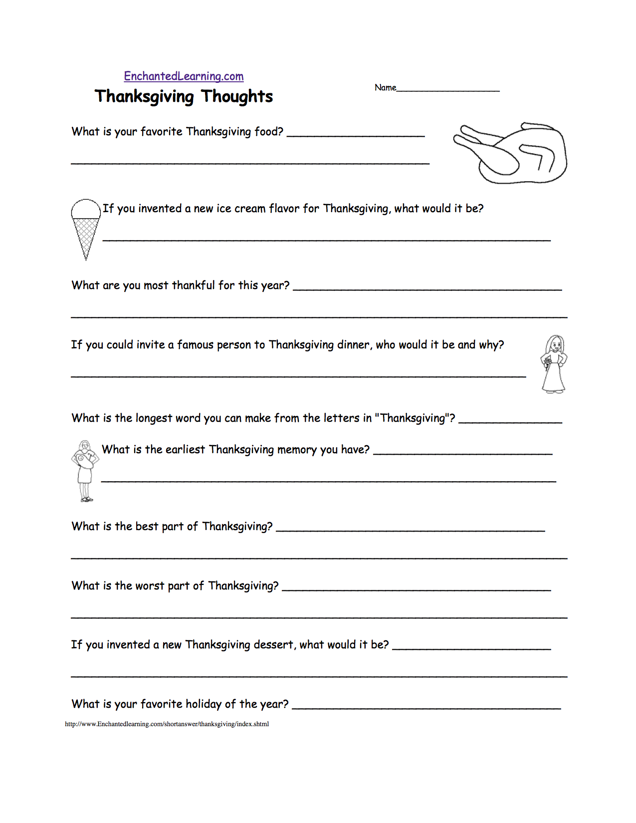 005 Essay Example Page Fantastic Thanksgiving Ideas For 3rd Grade Full