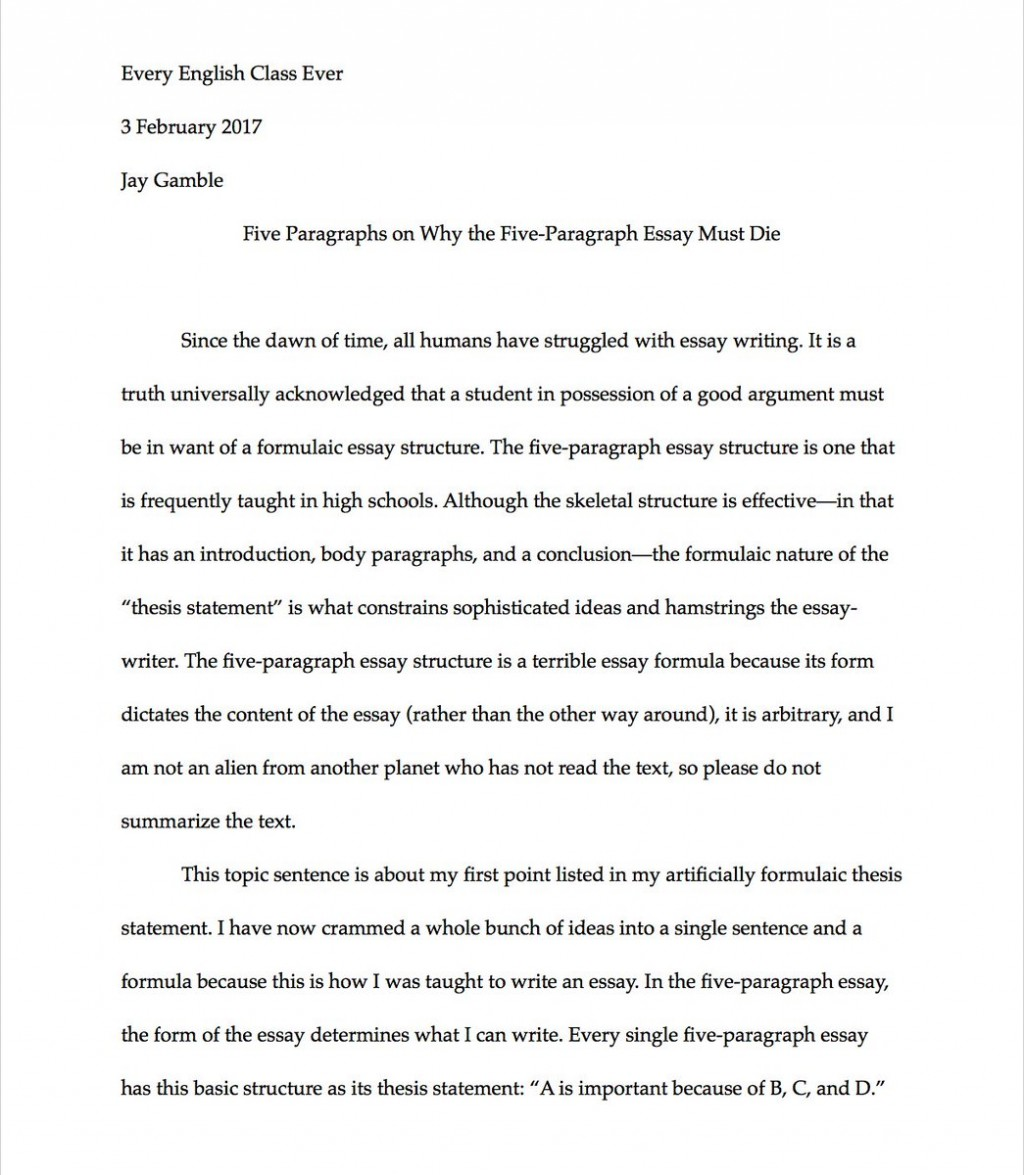 005 Essay Example Paragraph Remarkable 5 Outline Conclusion Spacing Large