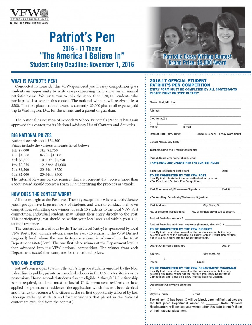 005 Essay Example Patriotpenessaydeadline2016 Patriots Imposing Pen Patriot's The America I Believe In 2018 Patriot Winners 2014