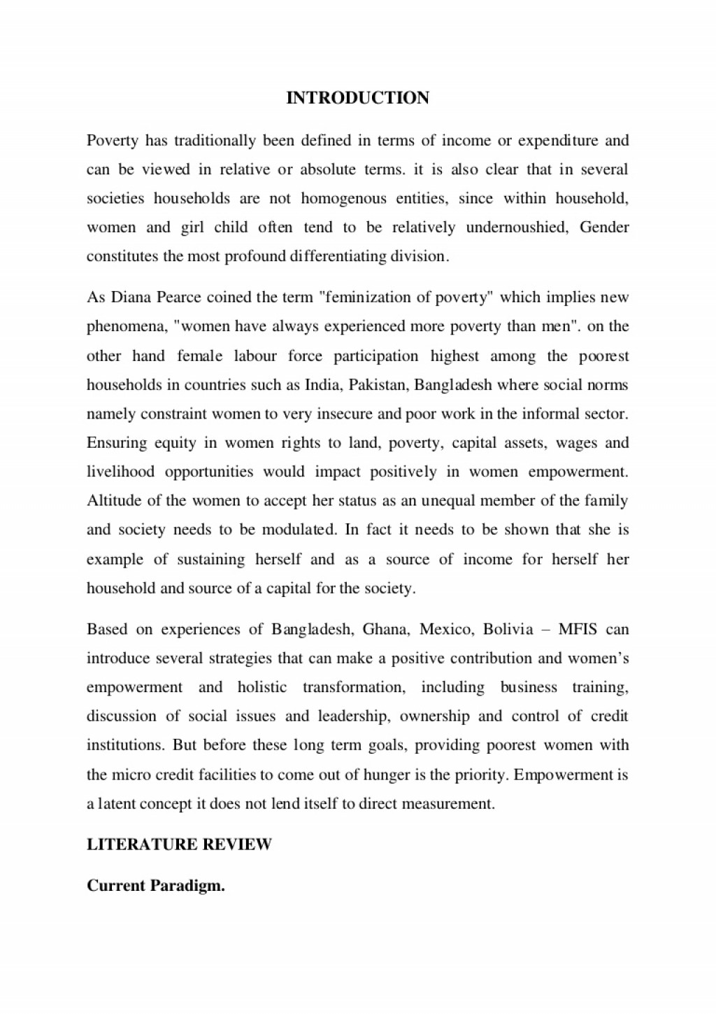 005 Essay Example Poverty Has Traditionally Been Defined In Terms Of Income Or Expenditure And Can Viewed Relative Absolute Prepared By Naresh Sehdev Phpapp01 Incredible On Women Education Women's Rights India Hindi Health Large