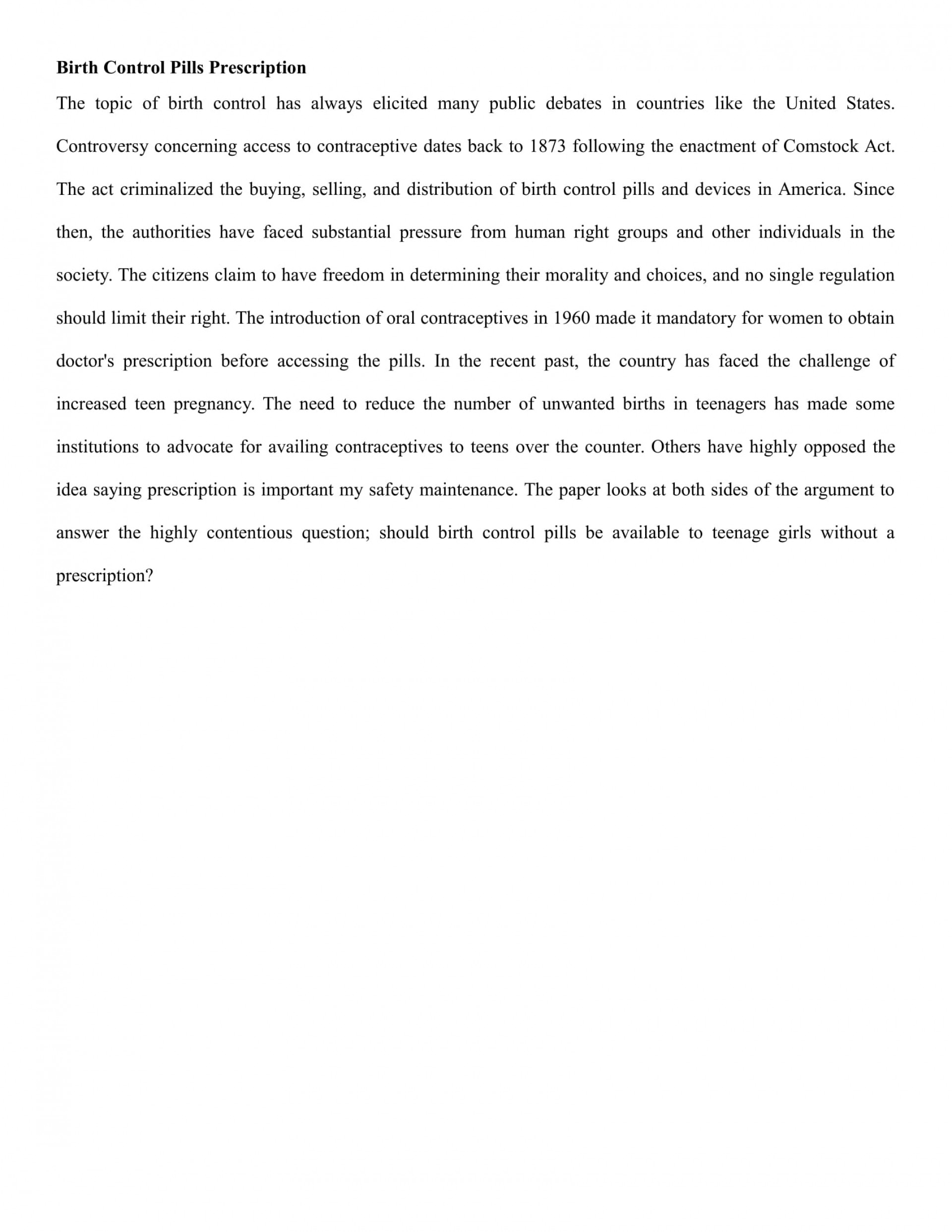 005 Essay Example Pregnancy Conclusion An On Teenage Birth Control Rights Term Paper Academic Service Argumentative About Pills Prescript In The Philippines Shocking How To Prevent 1920