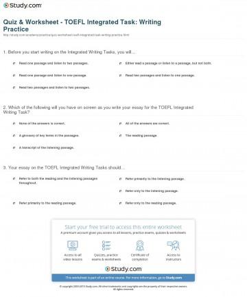005 Essay Example Quiz Worksheet Toefl Integrated Task Writing Practice Ibt Topics Striking 2015 360